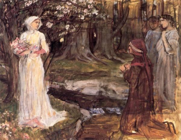 Waterhouse Dante and Beatrice